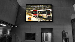 Front Service Wall Mounted LED Display In Metro Station