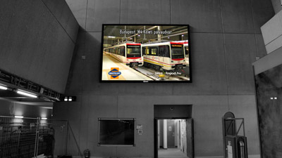 Hungary Metro Front Service LED Screen
