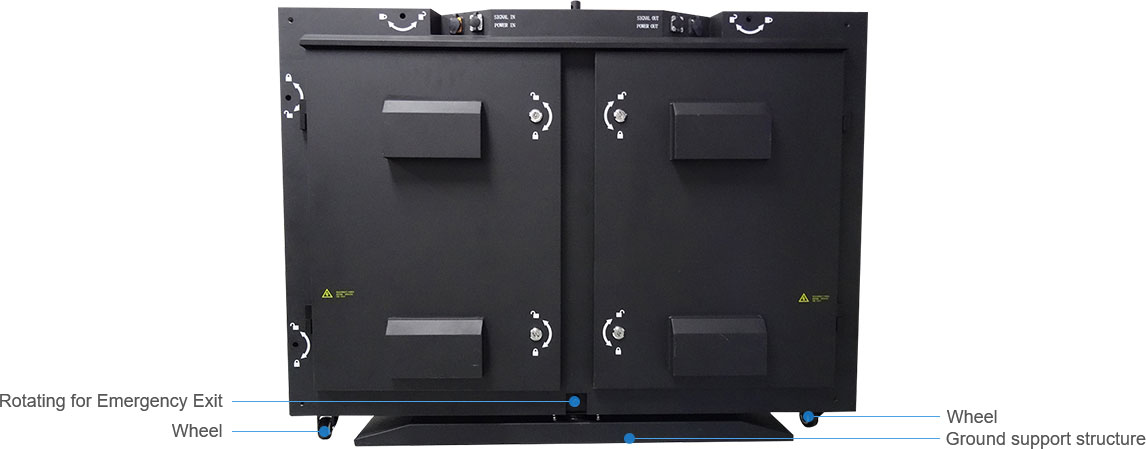Solid, Compact, Strong Cabinet Design For All Weather and Prevent for Any External Attacks