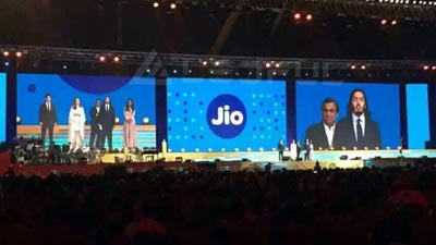 Outdoor Rental LED Screen for Jio Annual Party