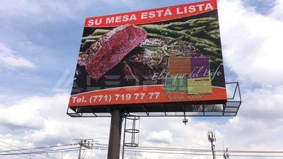 Mexico Pole Mounted Outdoor LED Street Display