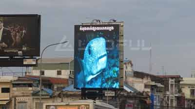 Cambodia Street Pole LED Display