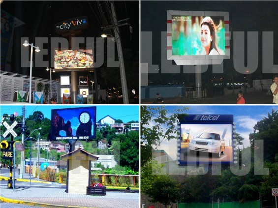 Advertising LED Screen with Pillar Installation Collection