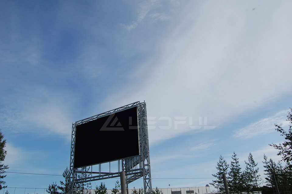 Finland Outdoor Dual-side Pole mounted LED Display