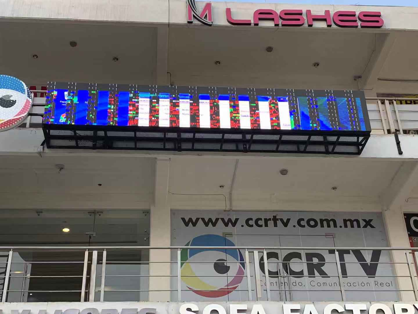 install the LED display