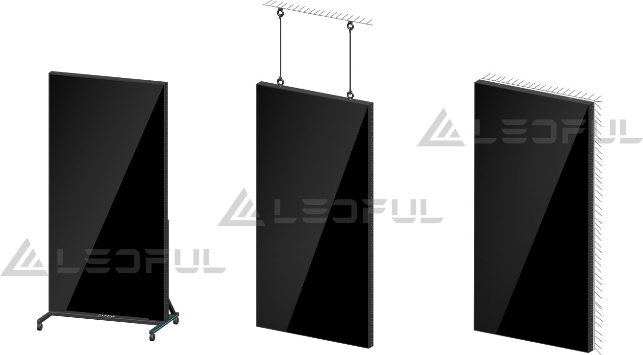 Easy moving, Stand, Hanging, Wall mounted,  Multiple Installation