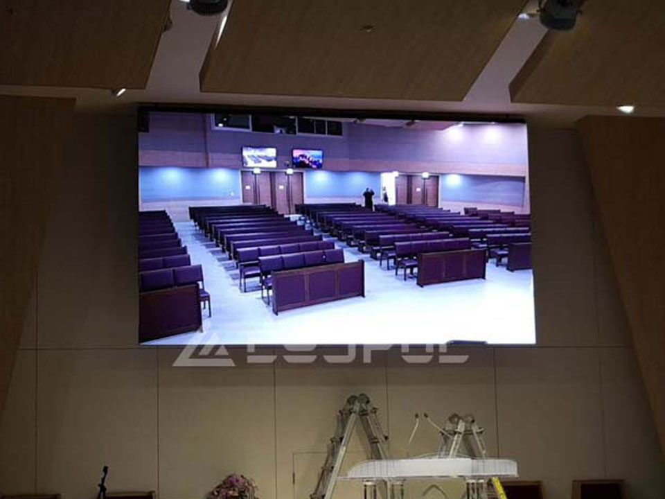 South Korea Indoor Church Advertising LED Display