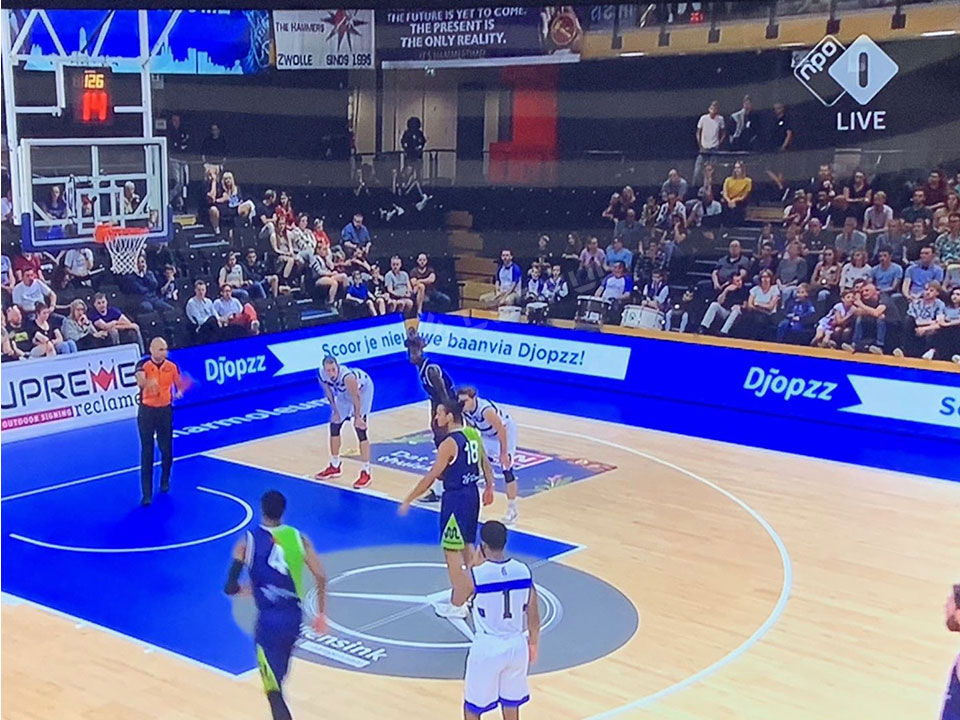 Netherlands Basketball Stadium LED Display Show On TV