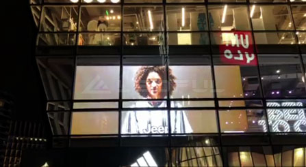 Australia Adiddas Shop Window For Transparent Glass LED Display